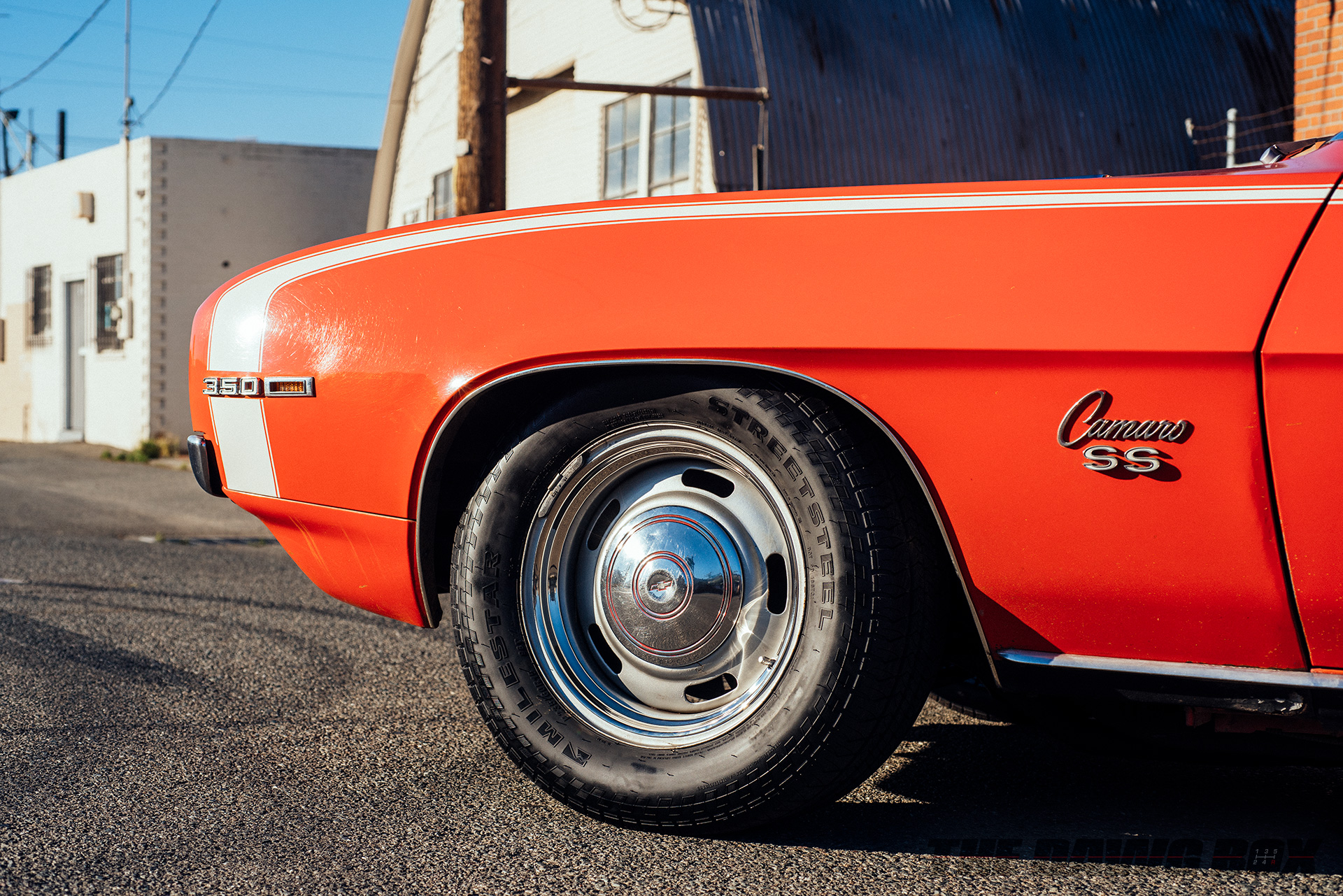 Detail shot of Curt Hill's '69 Chevrolet Camaro SS with Milestar StreetSteel Tires