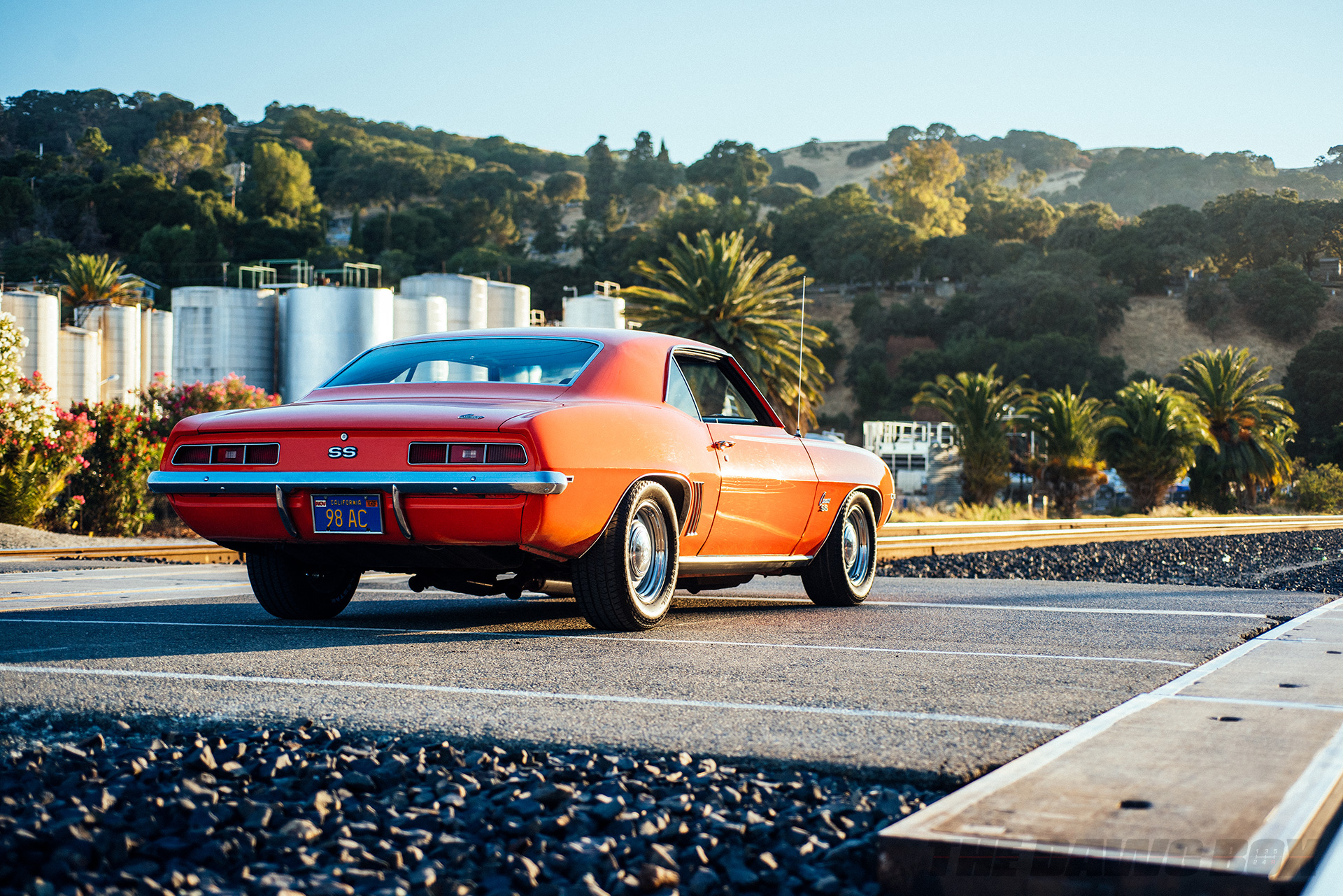 Rear 3/4 view of Curt Hill's 1969 Chevy Camaro SS