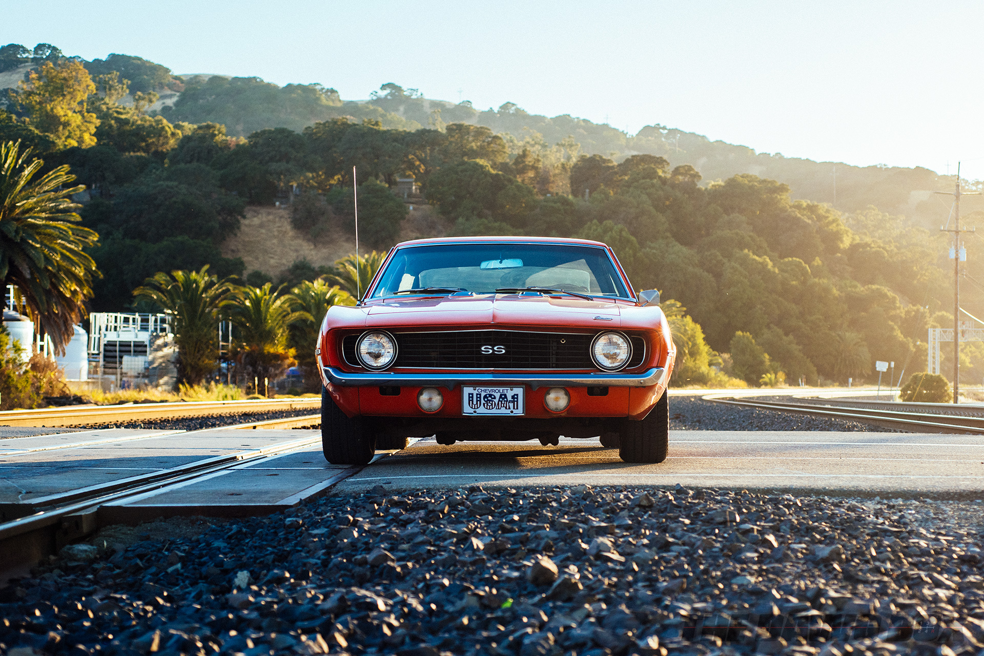 Front shot of Curt Hill's '69 Chevrolet Camaro SS