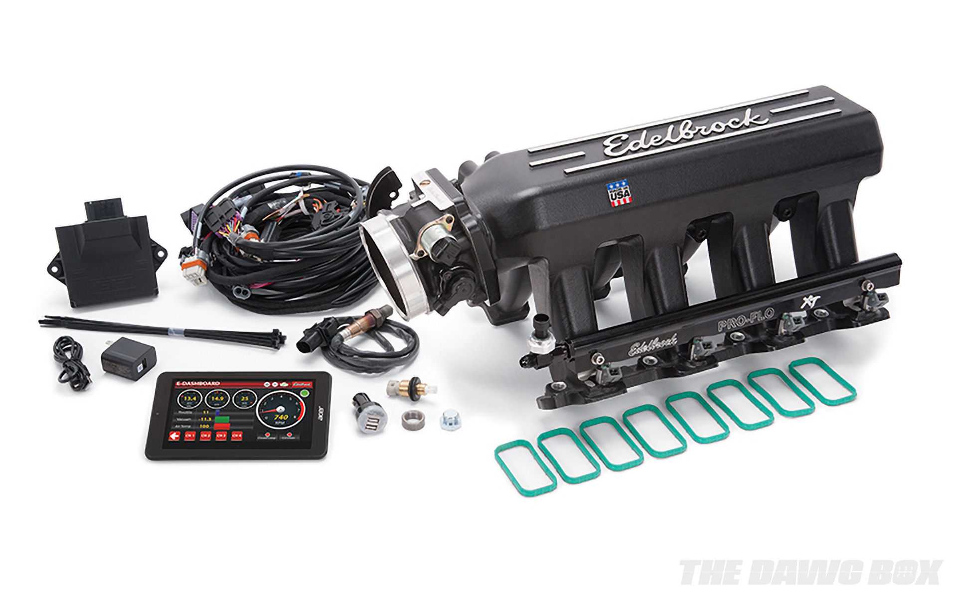high-performance aftermarket EFI system from Edelbrock featuring sequential port injection