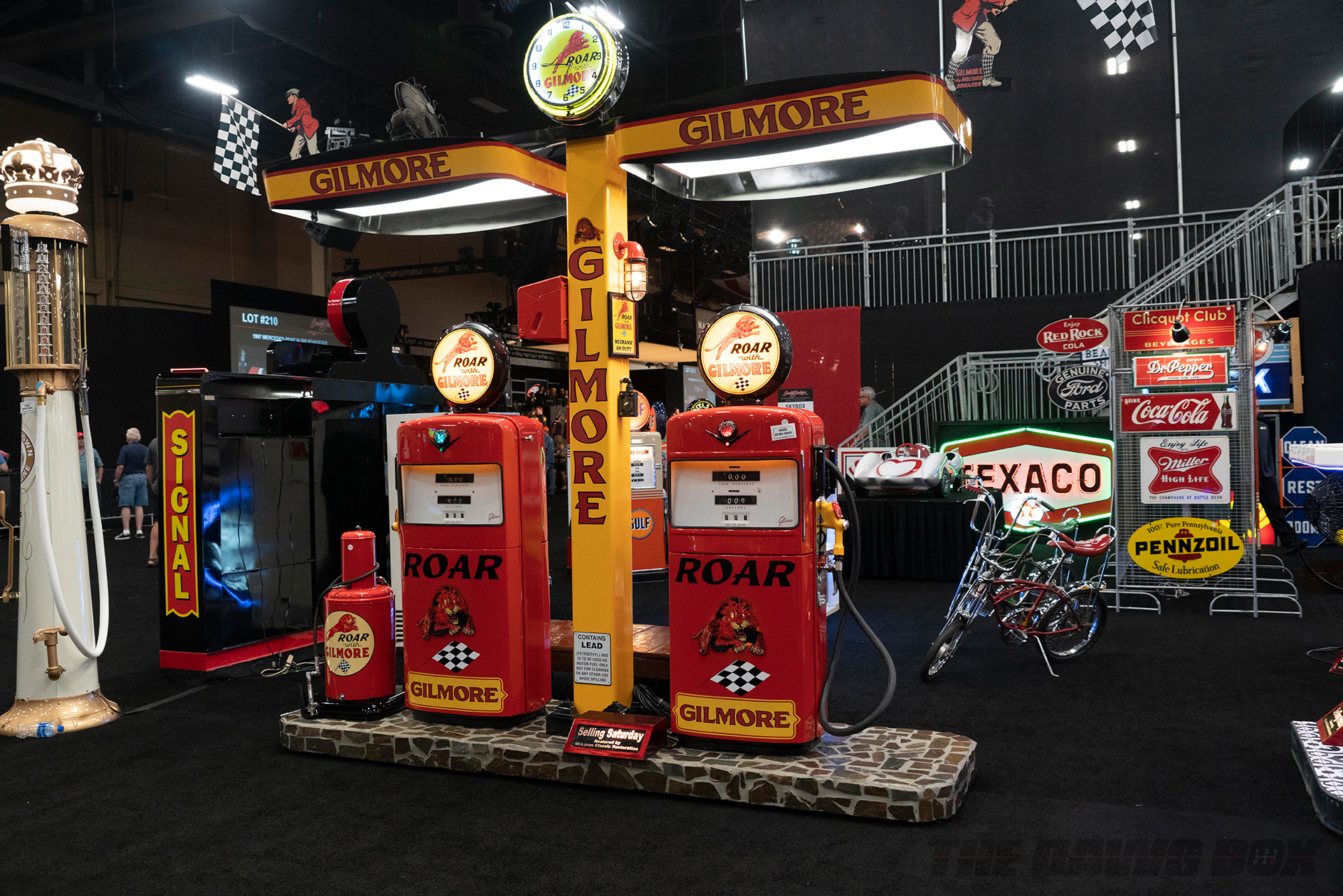 gilmore classic gas station at Barrett-Jackson Auction