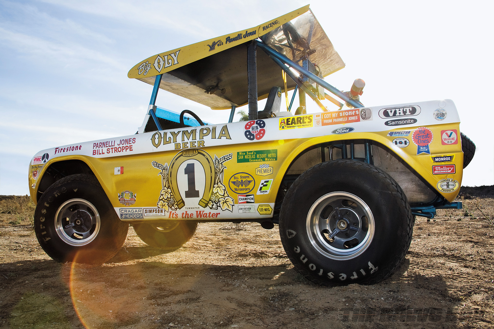 """Yellow Olympia Beer Ford Bronco """"Big Oly"""""""