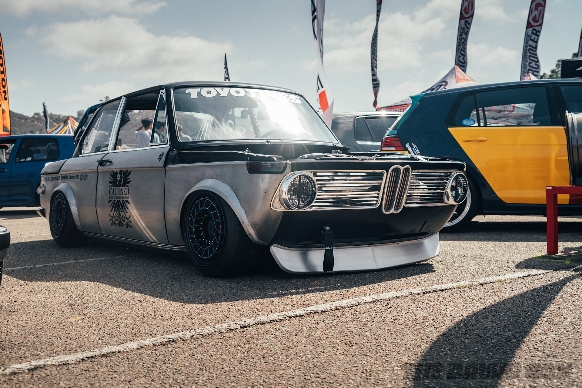 Silver CATuned BMW 2002 known as Ratrod02