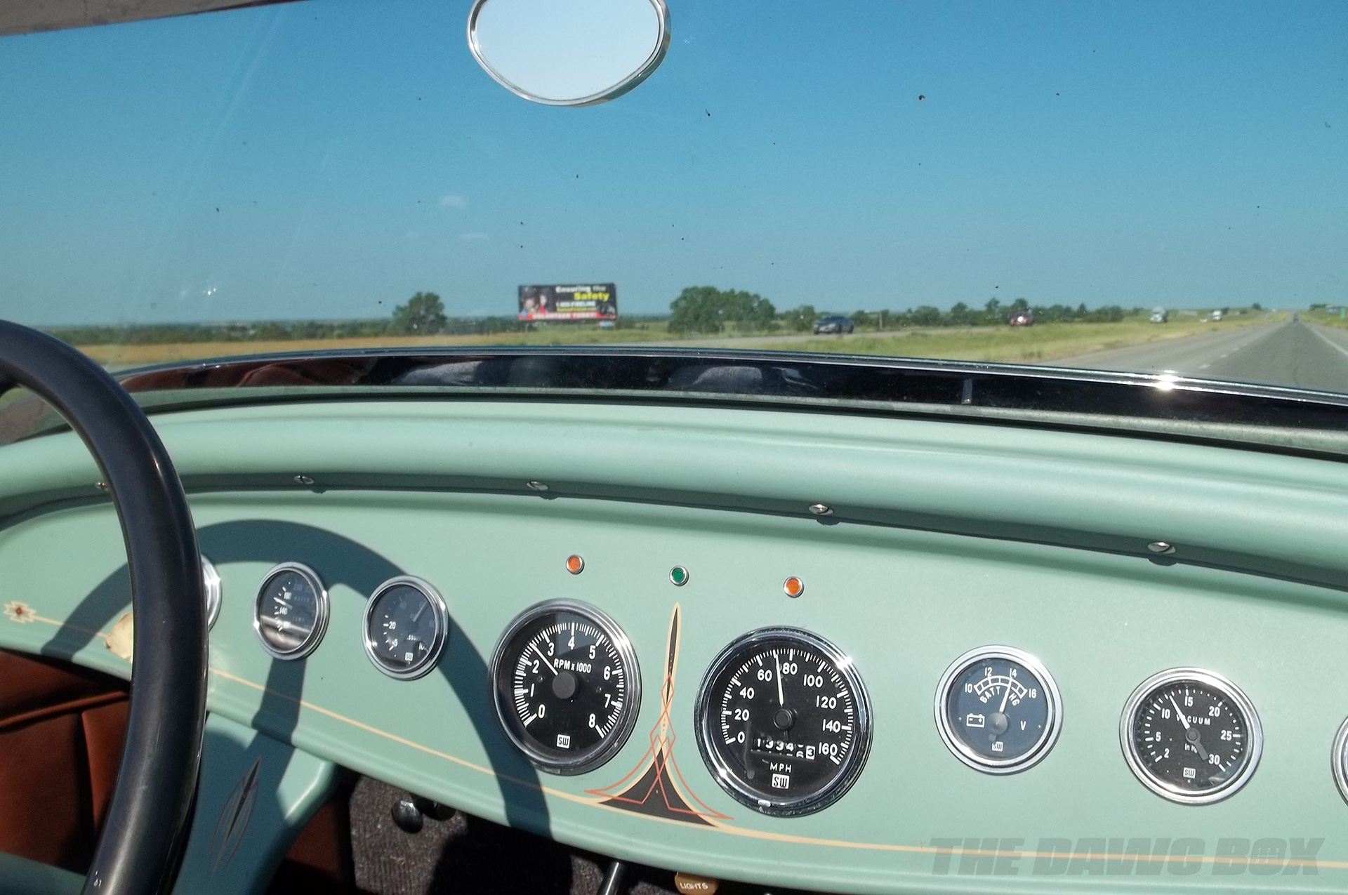 the dashboard of Henry Astor's '32 Ford Roadster