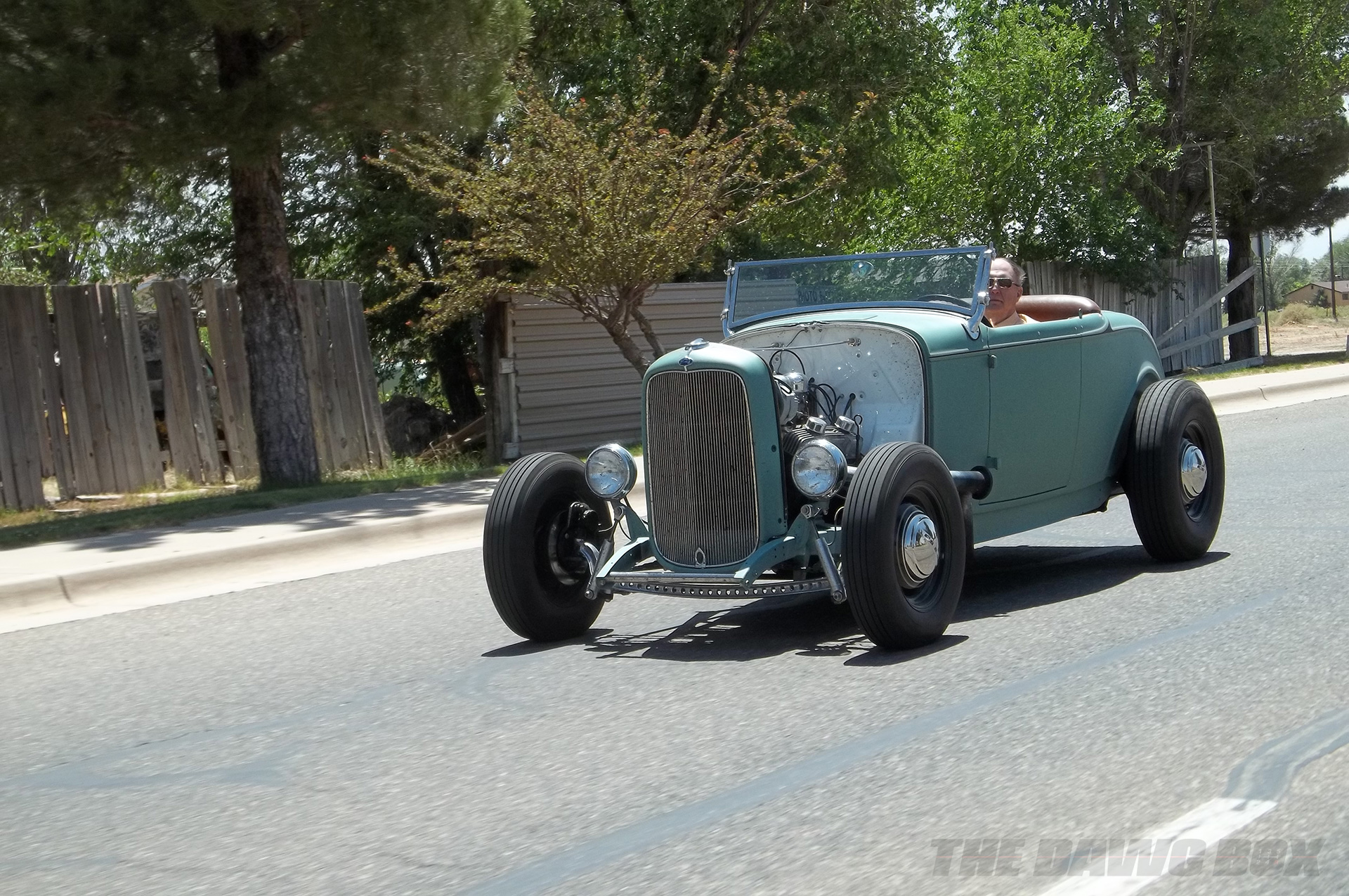Henry Astor's '32 Ford Roadster  on the road
