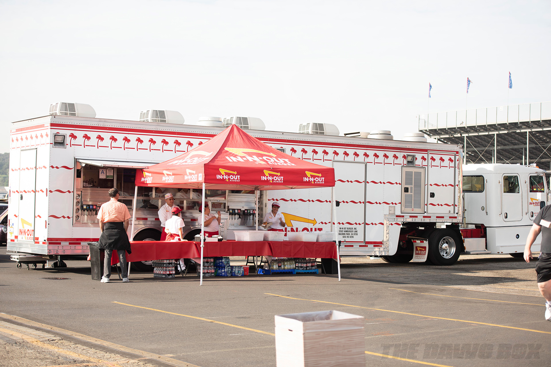 In-N-Out food trailer at the In-N-Out Hot Rod 70th Celebration