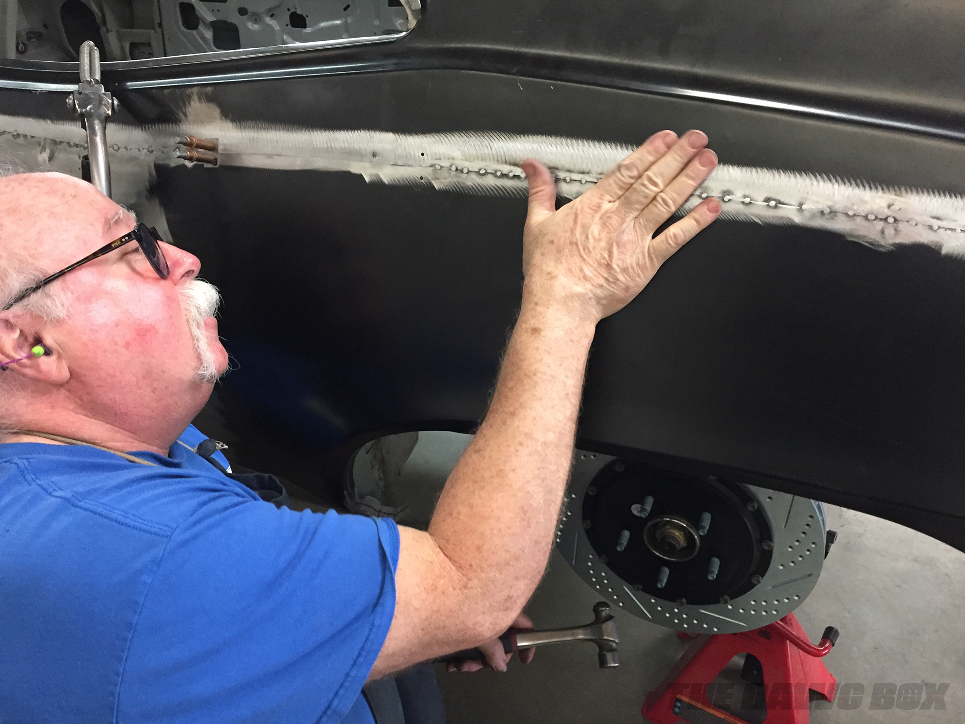Smoothing out the rear fenders