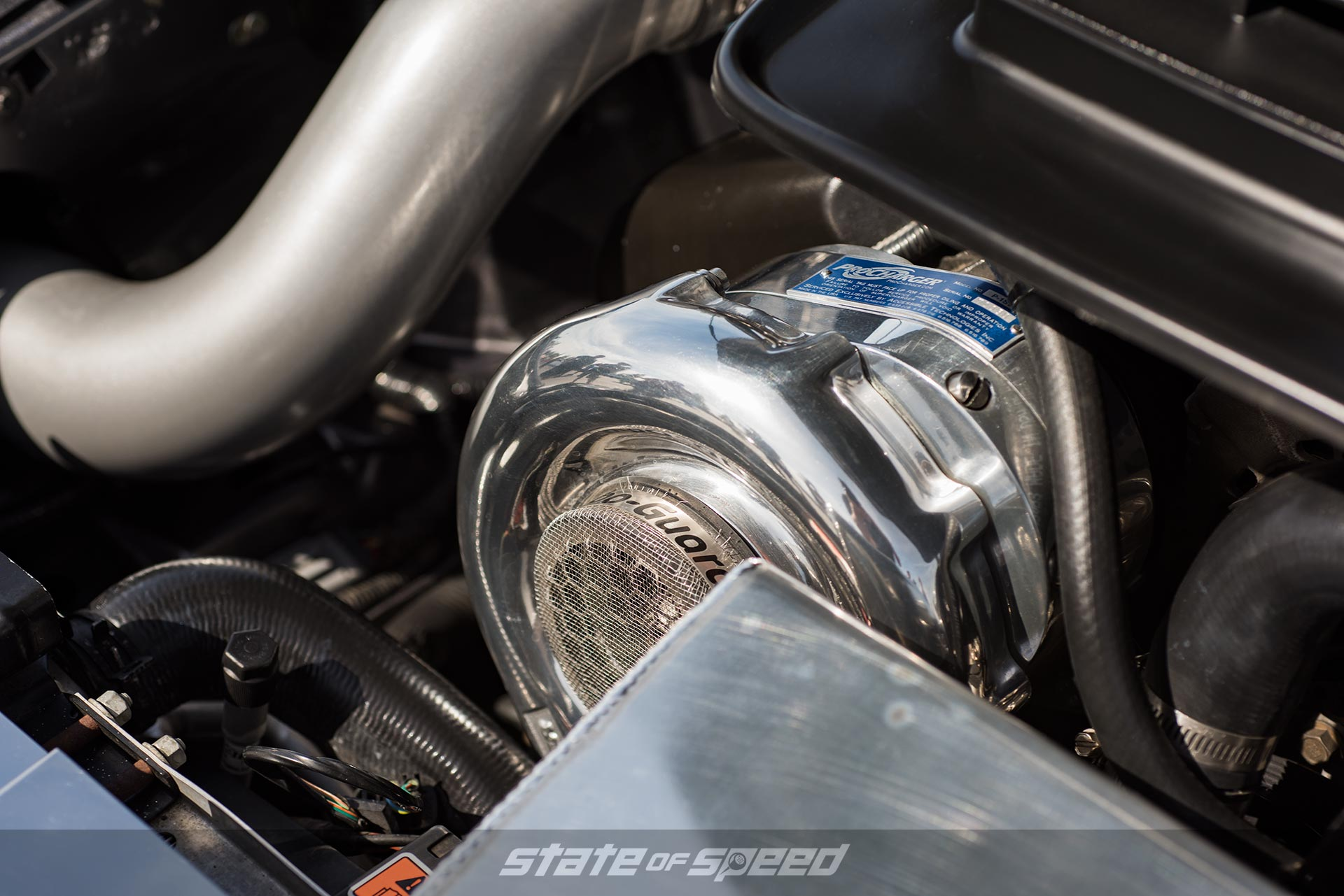 Turbocharger with a guard