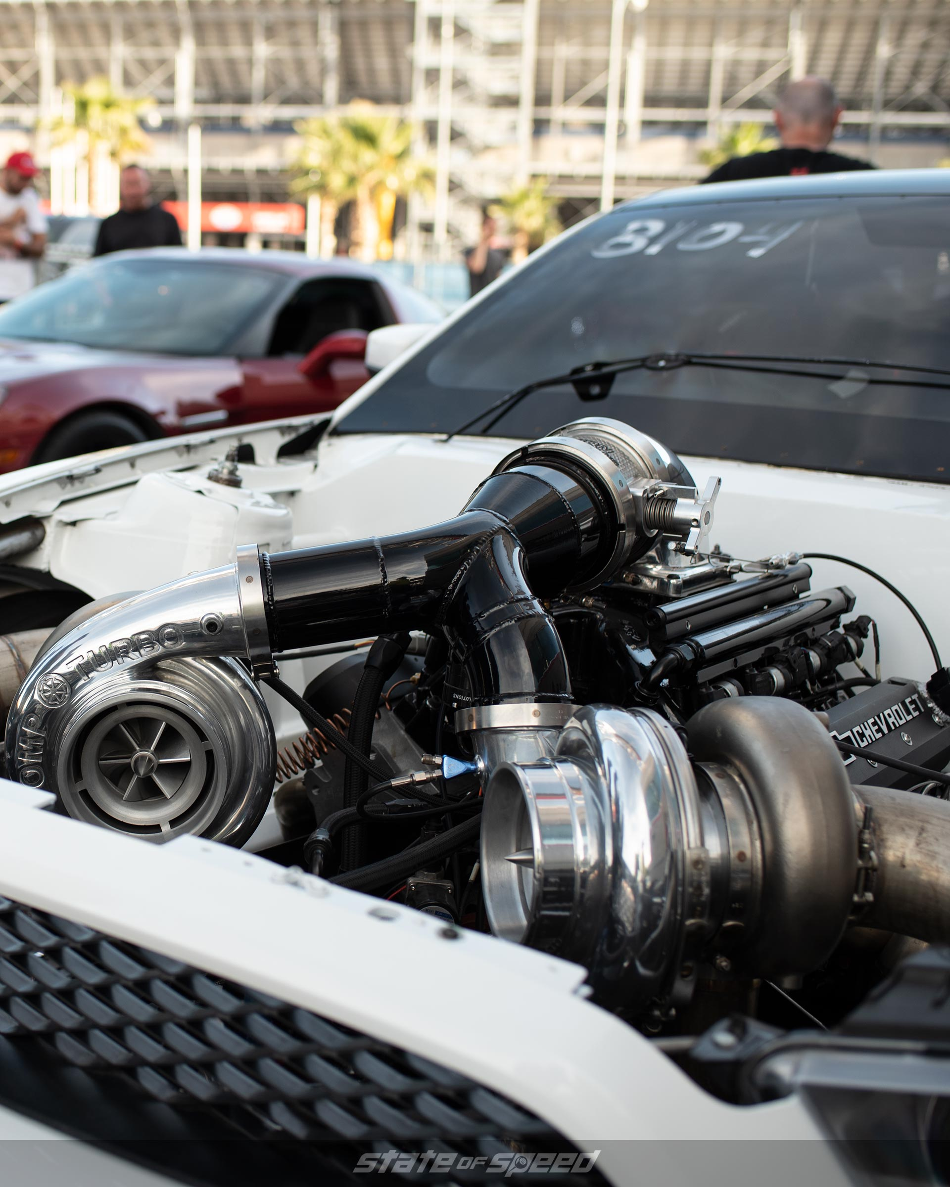 Another closeup of a turbo in a Ford Mustang