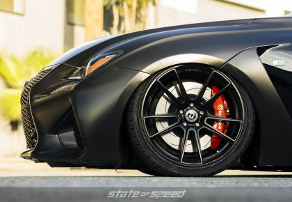 Lexus IS F with HRE P105 Forged wheels shod with Milestar 932XP+
