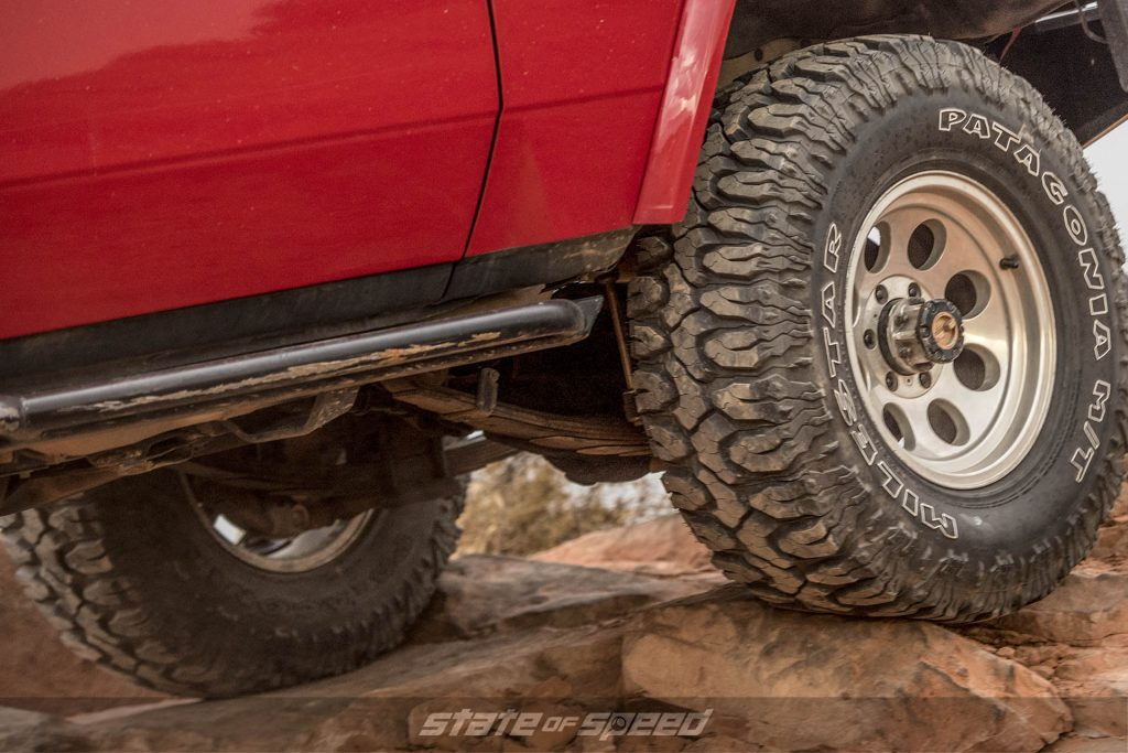 Toyota Land Cruiser with leaf springs