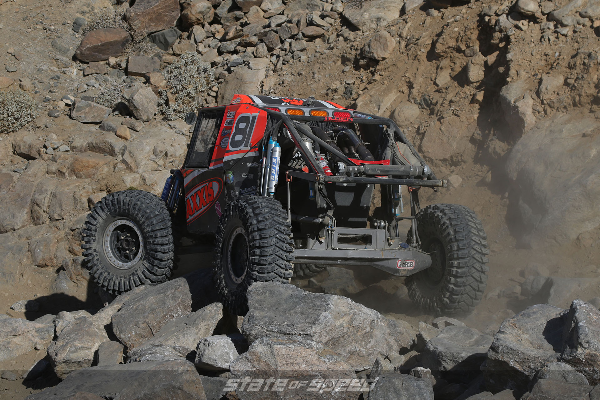 Rock crawling competition vehicle