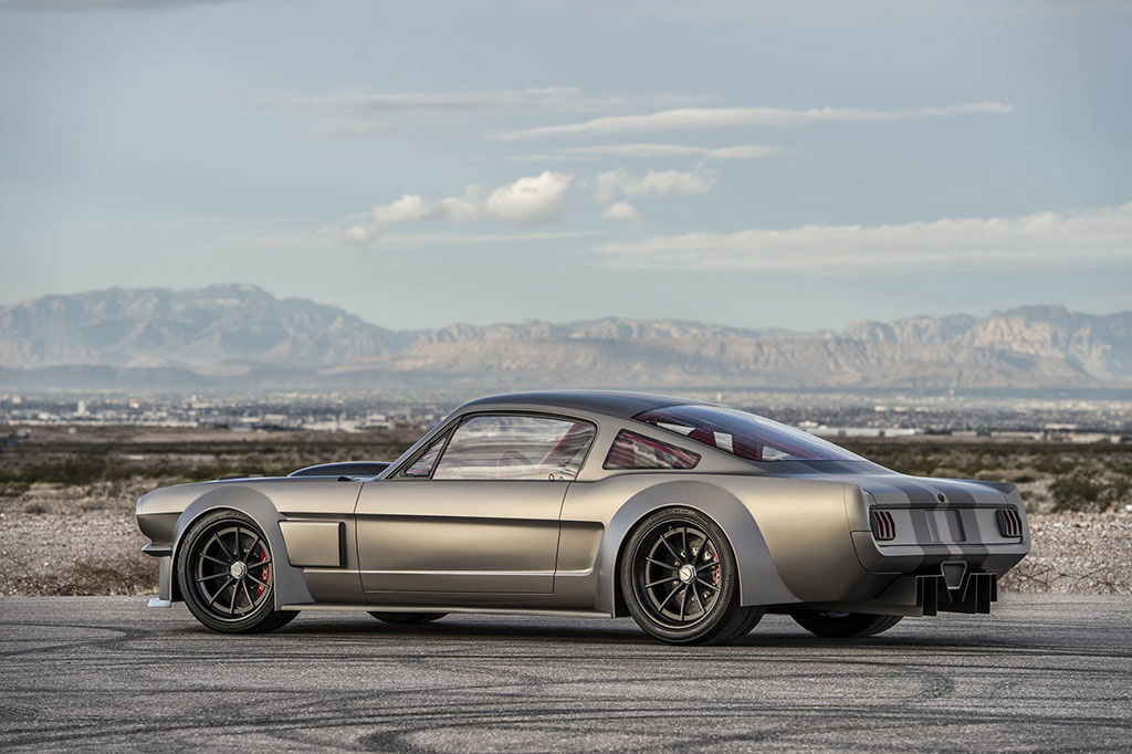 Modified mustang with custom grey paint