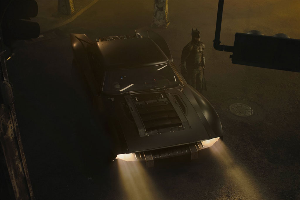 Batman and his Batmobile from the new movie