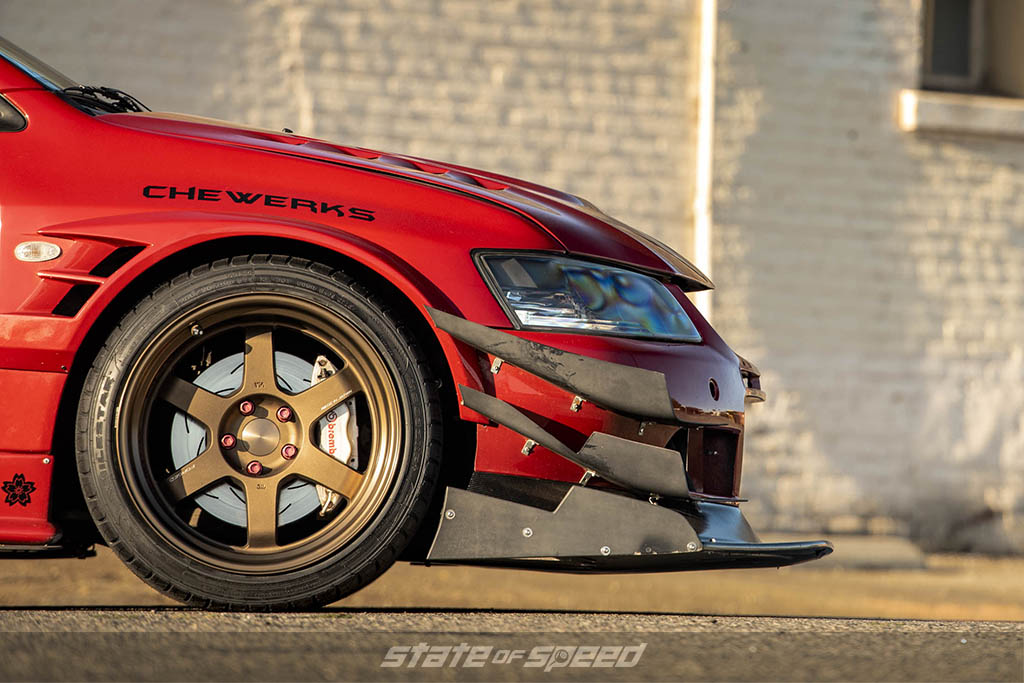 evo 9 with canards and splitter