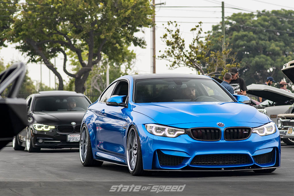 Blue BMW M4 at State of Speed Los Angeles LA