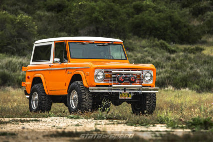 front 3/4 shot of ford bronco