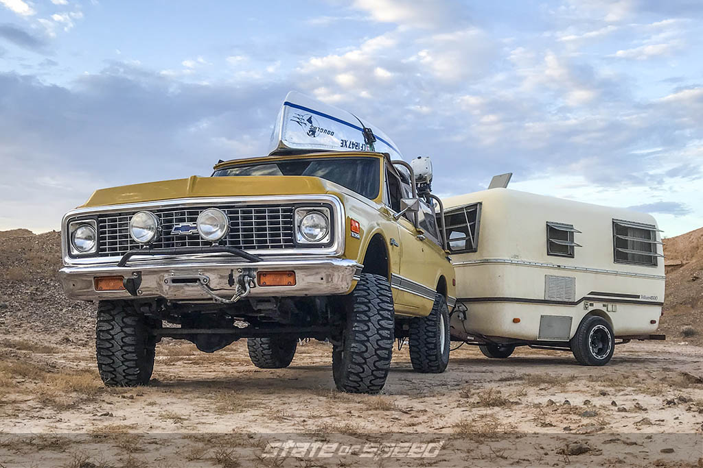 k5 blazer in yellow with camper