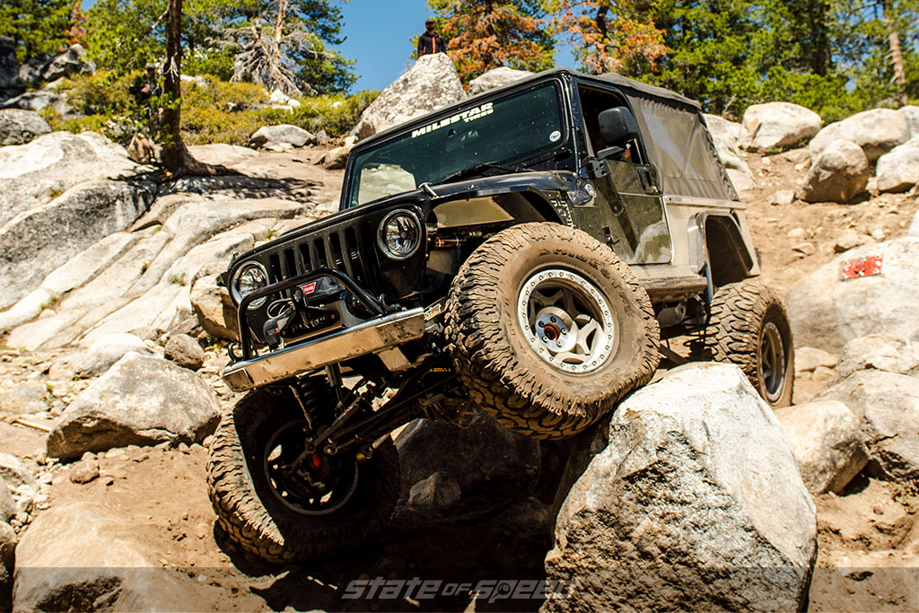 Black Jeep JK with offroad MT 35s