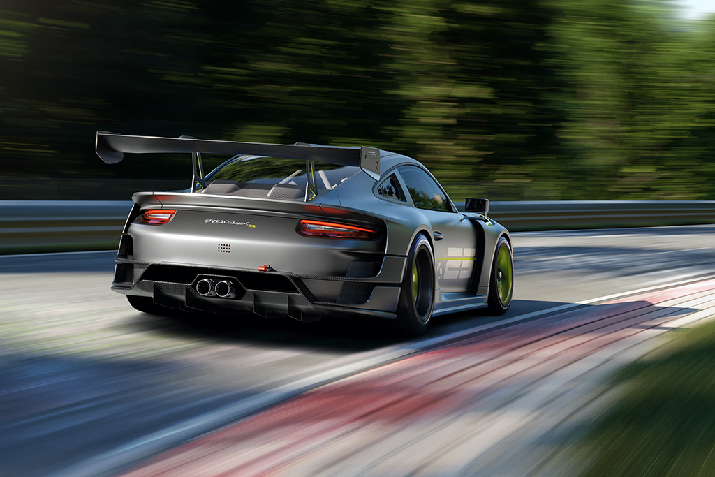 porsche gt2 rs clubsport on the track