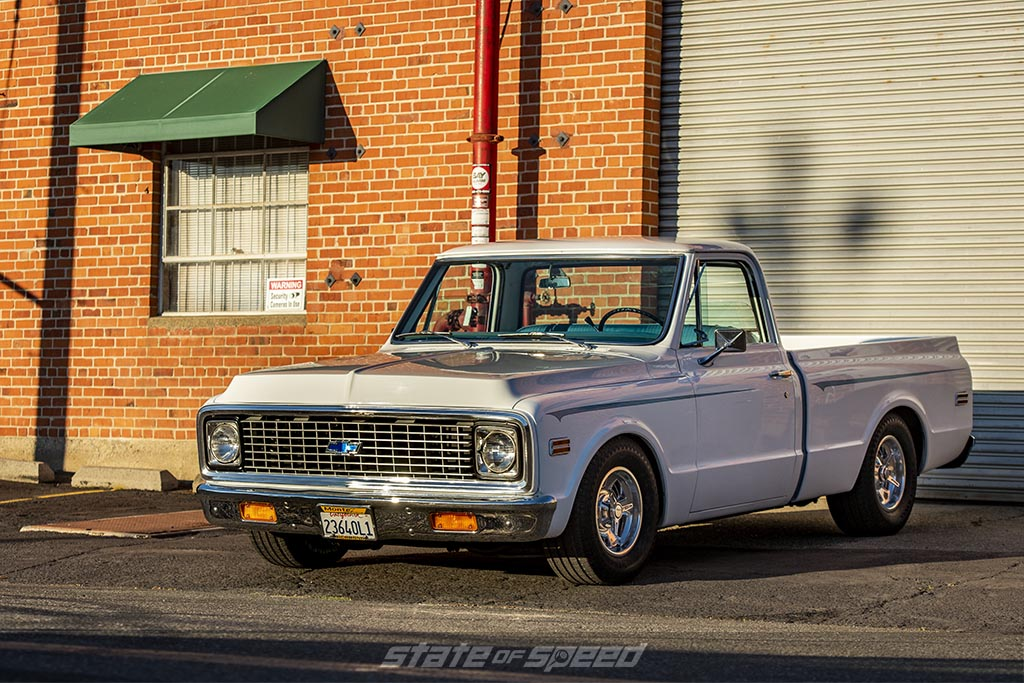 White '72 Chevrolet C-10 by Hill's Rod and Customs - 275/60R15
